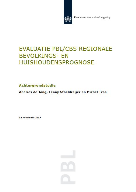 cover- Evaluatie-PBLCBS-regionale-bevolkings-en-huishoudensprognose